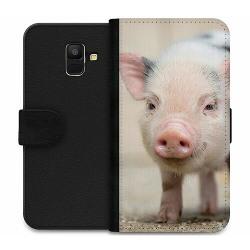 Samsung Galaxy A6 (2018) Wallet Case Happy Pig