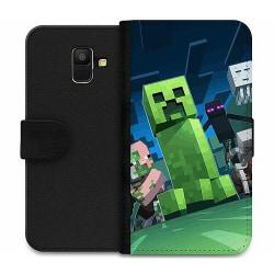 Samsung Galaxy A6 (2018) Wallet Case MineCraft