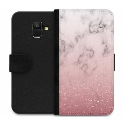 Samsung Galaxy A6 (2018) Wallet Case Soft Pink Marble