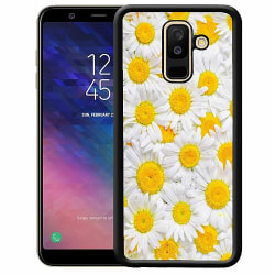 Samsung Galaxy A6 Plus (2018) Soft Case (Svart) Graceful Gerbera