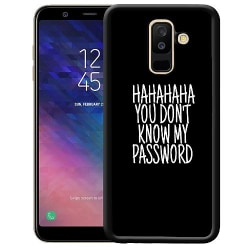 Samsung Galaxy A6 Plus (2018) Soft Case (Svart) HAHAHAH