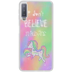 Samsung Galaxy A7 (2018) Soft Case (Frostad) Unicorn