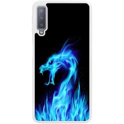 Samsung Galaxy A7 (2018) Soft Case (Vit) Fire Dragon Blue
