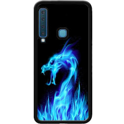 Samsung Galaxy A70 Soft Case (Svart) Fire Dragon Blue