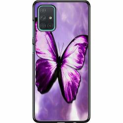 Samsung Galaxy A71 Hard Case (Svart) Fjäril