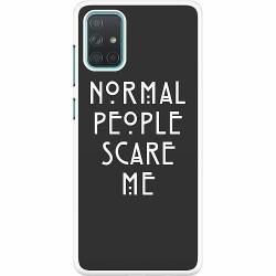 Samsung Galaxy A71 Hard Case (Vit) Normal