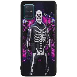 Samsung Galaxy A71 Soft Case (Svart) Fortnite Skull Trooper