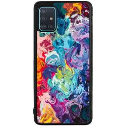 Samsung Galaxy A71 Soft Case (Svart) Wild Colours