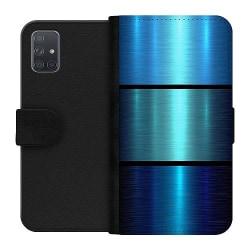 Samsung Galaxy A71 Plånboksfodral Blue Metallic Stripes