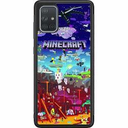 Samsung Galaxy A71 Soft Case (Svart) MineCraft
