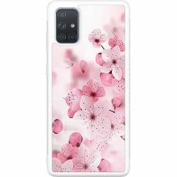 Samsung Galaxy A71 Soft Case (Vit) Cherry Blossom