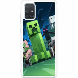Samsung Galaxy A71 Soft Case (Vit) MineCraft