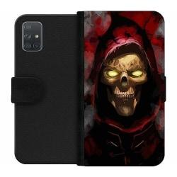 Samsung Galaxy A71 Wallet Case Doctor Red Skull