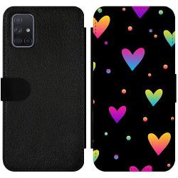 Samsung Galaxy A71 Wallet Slimcase Neon Hearts