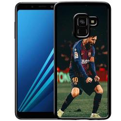 Samsung Galaxy A8 (2018) Soft Case (Svart) Messi