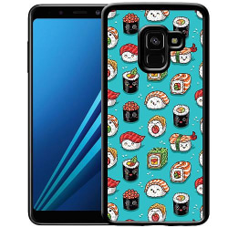 Samsung Galaxy A8 (2018) Soft Case (Svart) Sushi