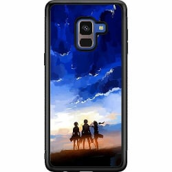 Samsung Galaxy A8 (2018) Soft Case (Svart) Attack On Titan
