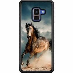 Samsung Galaxy A8 (2018) Soft Case (Svart) Häst