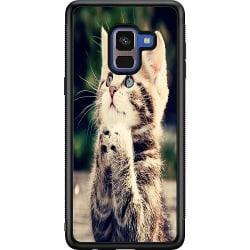 Samsung Galaxy A8 (2018) Soft Case (Svart) Katt