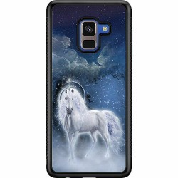 Samsung Galaxy A8 (2018) Soft Case (Svart) Magical Horse