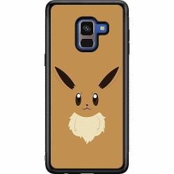 Samsung Galaxy A8 (2018) Soft Case (Svart) Pokémon - Eevee