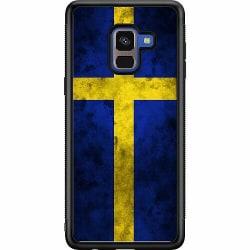 Samsung Galaxy A8 (2018) Soft Case (Svart) Sverige Flagga