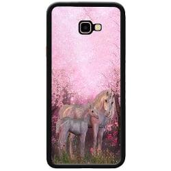 Samsung Galaxy J4 Plus (2018) Soft Case (Svart) Magic Unicorns