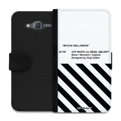 Samsung Galaxy J5 Wallet Case White Off