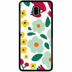 Samsung Galaxy J6 Plus (2018) Soft Case (Svart) Baby Flowers