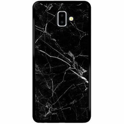 Samsung Galaxy J6 Plus (2018) Soft Case (Svart) black marble