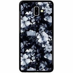 Samsung Galaxy J6 Plus (2018) Soft Case (Svart) Blommor