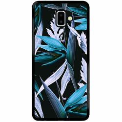 Samsung Galaxy J6 Plus (2018) Soft Case (Svart) Blue Flower