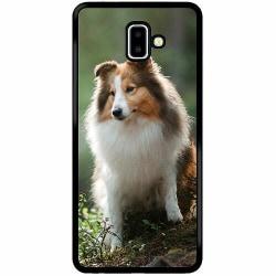 Samsung Galaxy J6 Plus (2018) Soft Case (Svart) Collie Dog