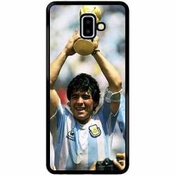 Samsung Galaxy J6 Plus (2018) Soft Case (Svart) Diego Maradona