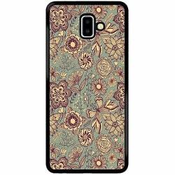 Samsung Galaxy J6 Plus (2018) Soft Case (Svart) Vintage Flowers