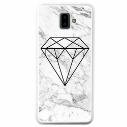 Samsung Galaxy J6 Plus (2018) Soft Case (Vit) Marmor Diamant
