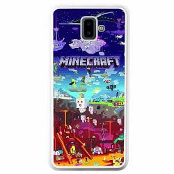 Samsung Galaxy J6 Plus (2018) Soft Case (Vit) MineCraft