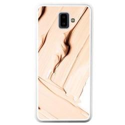 Samsung Galaxy J6 Plus (2018) Soft Case (Vit) Brush Stroke