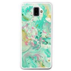 Samsung Galaxy J6 Plus (2018) Soft Case (Vit) Marmor