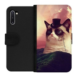 Samsung Galaxy Note 10 Wallet Case Space Cat