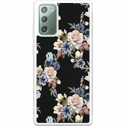 Samsung Galaxy Note 20 Soft Case (Vit) Floral