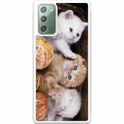 Samsung Galaxy Note 20 Soft Case (Vit) Katter
