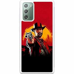 Samsung Galaxy Note 20 Soft Case (Vit) Red Dead Redemption 2