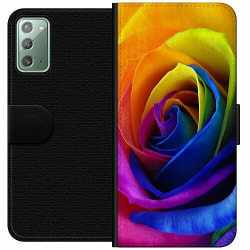 Samsung Galaxy Note 20 Wallet Case Rainbow Rose