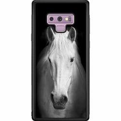 Samsung Galaxy Note 9 Soft Case (Svart) Vit Häst