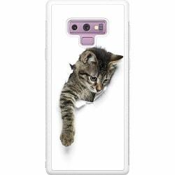 Samsung Galaxy Note 9 Soft Case (Vit) Curious Kitten