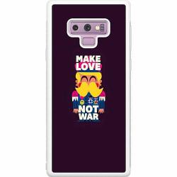 Samsung Galaxy Note 9 Soft Case (Vit) MAKE LOVE NOT WAR