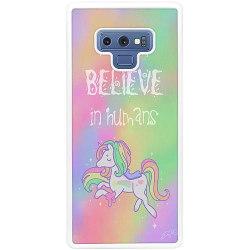 Samsung Galaxy Note 9 Soft Case (Vit) Unicorn