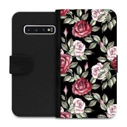 Samsung Galaxy S10 Wallet Case Blommor