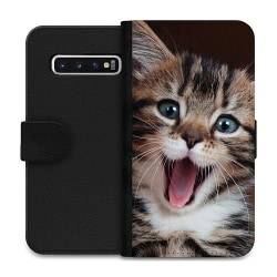 Samsung Galaxy S10 Wallet Case Surprised Kitten